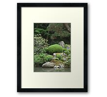 japanese traditional garden view 1 Framed Print