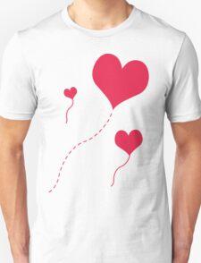 Heart Balloons Unisex T-Shirt