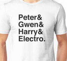Peter & Gwen & Harry & Electro. Unisex T-Shirt