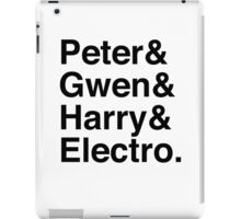 Peter & Gwen & Harry & Electro. iPad Case/Skin