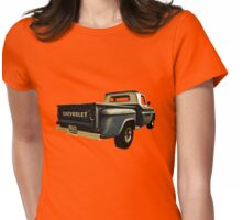 Five-Six Chevy Pickup and the Golden Sky Womens Fitted T-Shirt