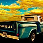 Five-Six Chevy Pickup and the Golden Sky by ChasSinklier