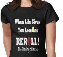 The Binding of Isaac REROLL!! Womens Fitted T-Shirt