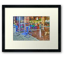 Eye candy restaurant HDR Framed Print