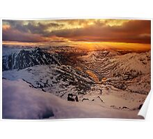 Sunrise over the Langdale Valley Poster