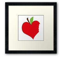 Heart Apple Framed Print