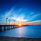 Admiring the colourful sunset behind Frankston Pier 2013 by Ben  Cadwallader