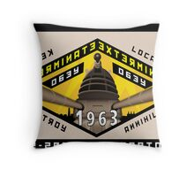 Battleship Dalek 1963 Throw Pillow
