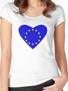 Love Europe Women's Fitted Scoop T-Shirt