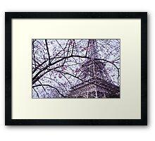 Eiffel Tower through blossom Framed Print