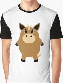 Cute Horse Graphic T-Shirt
