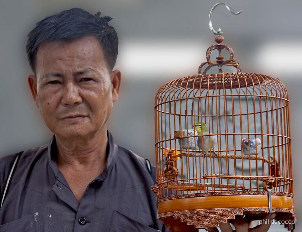 Beijing Bird Vendor by phil decocco