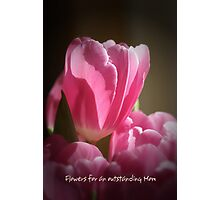 Tulip and text Mother's day work Photographic Print