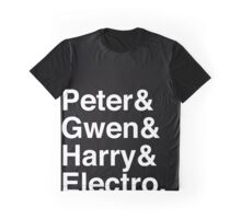 Peter & Gwen & Harry & Electro. (inverse) Graphic T-Shirt