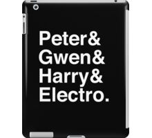 Peter & Gwen & Harry & Electro. (inverse) iPad Case/Skin