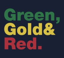 Green, Gold & Red. Kids Clothes