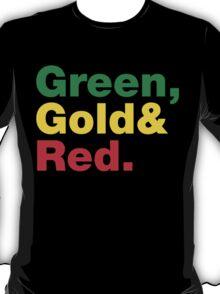 Green, Gold & Red. T-Shirt
