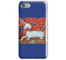 UNICORN WITH RED BLUE FLORAL MOTIFS iPhone Case/Skin