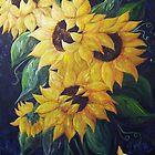Dancing Sunflowers by EloiseArt