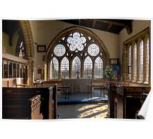Bedale church window Poster