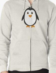 Cute Penguin Zipped Hoodie