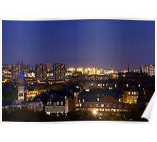 Glasgow West End Skyline Poster