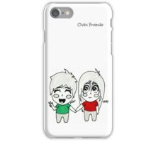 Chibi Peter and Chibi Vicky iPhone Case/Skin