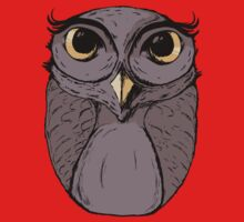 The Owl - Vector Illustration Kids Clothes