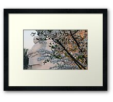 A Cherry Blossomed Martin Luther King Framed Print