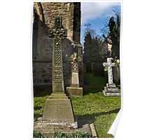 Bedale church -Three crosses Poster