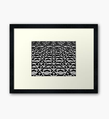 Lattice 1 B&W Framed Print