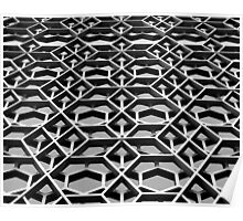 Lattice 1 B&W Poster