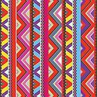 Aztec #10 - Red Pattern by Orna Artzi