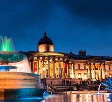 Trafalgar Square in Xmas by Mattia  Bicchi Photography