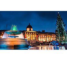 Trafalgar Square in Xmas Photographic Print