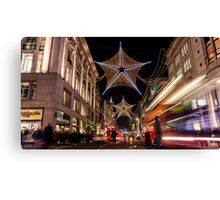 Christmas decoration of Oxford Street Canvas Print