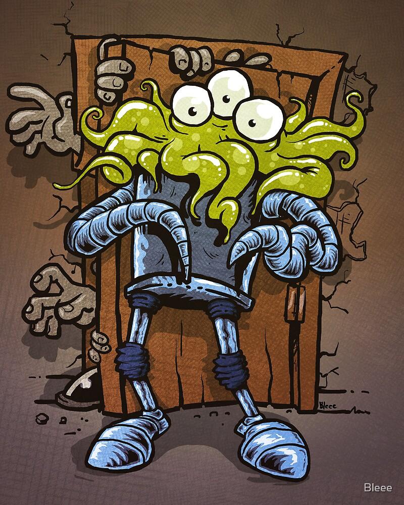 monsters at the door by Bleee