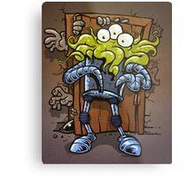 monsters at the door Metal Print
