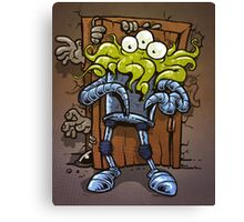 monsters at the door Canvas Print