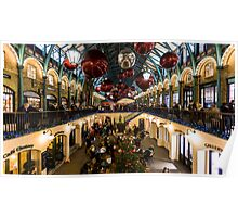 Christmas decoration of Covent Garden in London Poster
