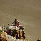 Girl On The Rocks, Compton Bay by Rod Johnson