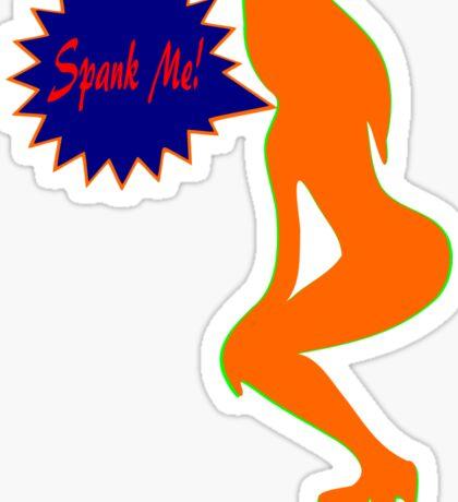 ★ټSpank Me-Naughty Bewitching Woman on Stiletto Heels Clothing & Stickersټ★ Sticker