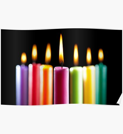 Rustic Candles Poster