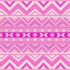 Pink #5 - Girly Aztec Pattern by Orna Artzi