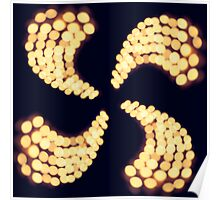 Bokeh Candle Spiral Poster