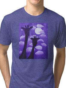 Giraffes at Nightfall Tri-blend T-Shirt