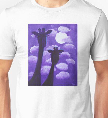 Giraffes at Nightfall Unisex T-Shirt