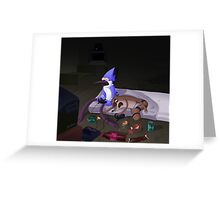 Mordecai and Rigby (Game Never Over) Greeting Card