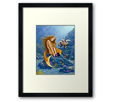 Feeding the fishes Framed Print