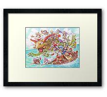 Chrono Cross: Swim Framed Print